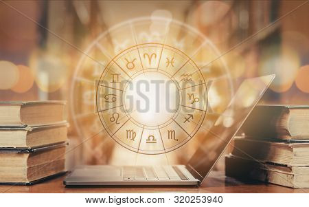 Zodiac Sign Horoscope Astrology And Constellation Study For Foretell And Fortune Telling Education C