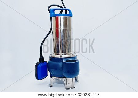 Deep Well Submersible Pump Isolated On White.