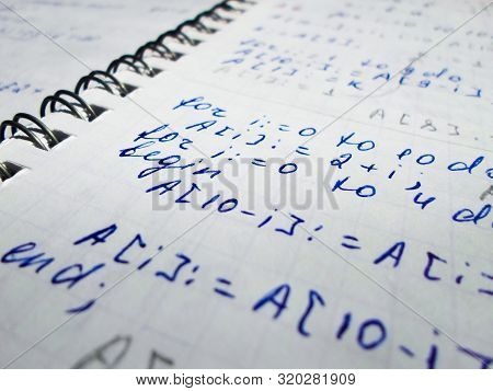 Creating Programs In The Programming Language Pascal On A Notebook. Work Of The System Administrator