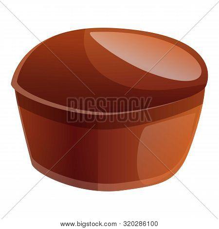 Chocolate Bonbon Icon. Cartoon Of Chocolate Bonbon Vector Icon For Web Design Isolated On White Back