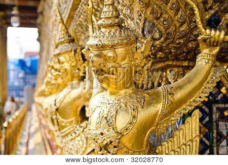 Golden Garuda in Wat Pra kaew