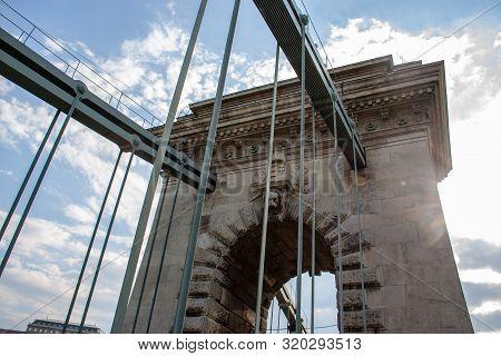View Details Of The Liberty Bridge. The Liberty Bridge (szabadság Híd Hungarian) Is One Of The Bridg