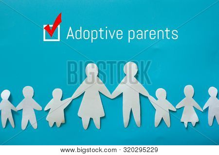 Adopt A Child Concept Image. Family With Adopted Child