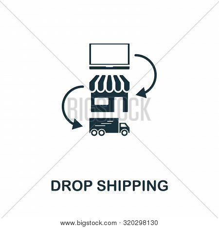 Drop Shipping Vector Icon Symbol. Creative Sign From Passive Income Icons Collection. Filled Flat Dr