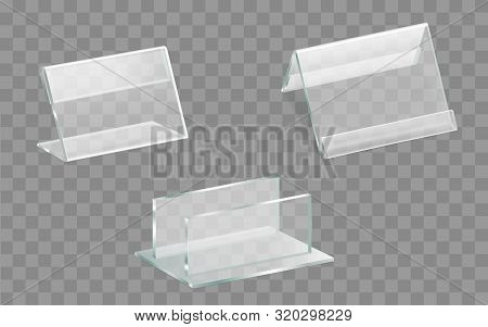 Single And Double Sided Acrylic Glass Table Displays Or Talkers, Menu, Ad Leaflets, Brochures Plexig