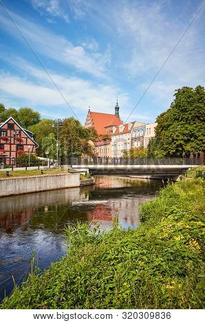 Brda River Canal At Mlynska Island (mill Island) In Bydgoszcz, Poland.