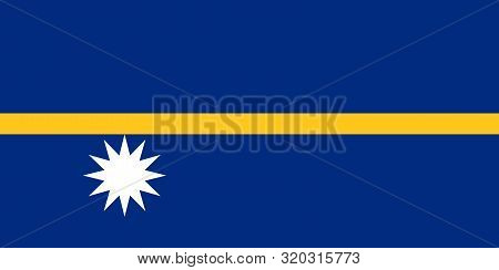 Flag Of Nauru Vector Illustration, Worlds Flags Collection