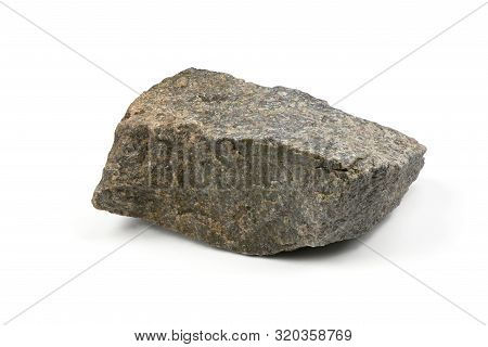 Grungy  Granite Stone, Marble Rock Isolated On White Background. High Resolution Photo. Full Depth O