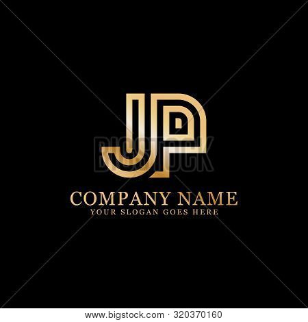 Jp Monogram Logo Inspirations, Letters Logo Template,clean And Creative Designs