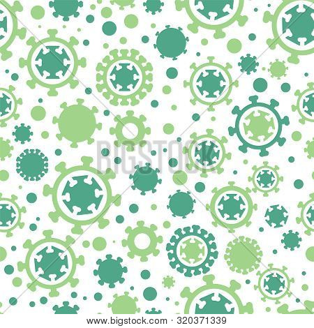 Rotavirus Seamless Pattern. Gastroenteritis Background. Stomach Flu Epidemic Backdrop. Editable Vect