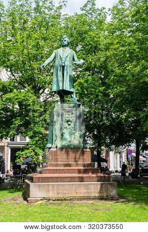 Brussels, Belgium - June 6, 2019: Monument Charles Rogier At Place De La Liberte. Charles Latour Rog