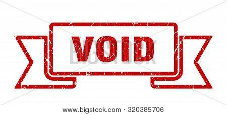 Void Grunge Ribbon. Void Sign. Void Banner