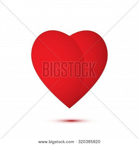 Heart Red Flat Vector Logo Illustration. Humanitarian Aid, Generosity, Kindness Symbol. Volunteering