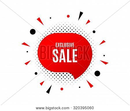 Exclusive Sale. Banner Badge, Offer Sticker. Special Offer Price Sign. Advertising Discounts Symbol.
