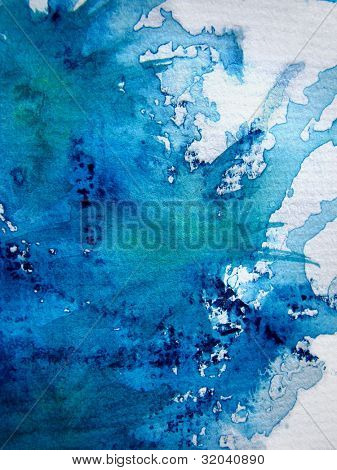 Spash of Blue Watercolor