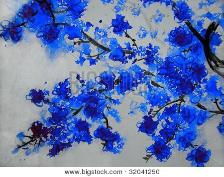 Blue Cherry Blossoms 2