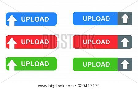 Upload Button Isolated On White Background From Security Collection. Upload Button Trendy And Modern