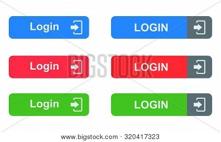 Login Button Isolated On White Background From Security Collection. Login Button Trendy And Modern L