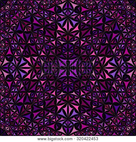 Purple Seamless Abstract Curved Triangle Mosaic Kaleidoscope Pattern Wallpaper - Tribal Vector Backg