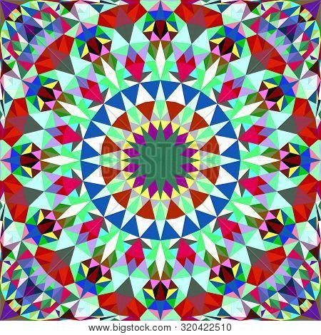 Colorful Abstract Repeating Triangle Mosaic Tile Kaleidoscope Mandala Wallpaper Pattern - Geometric