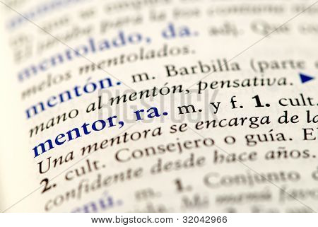 Spanish dictionary word for mentor
