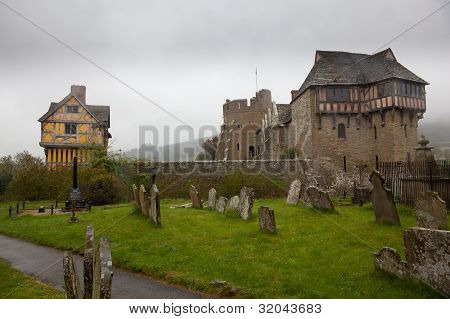 Graveyard By Stokesay Castle In Shropshire