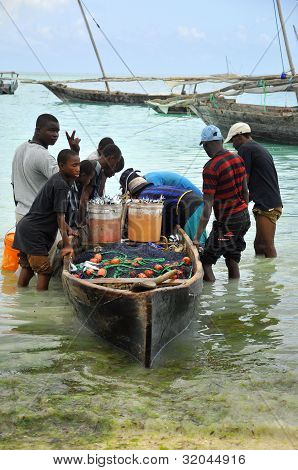 Fishermen, at Nungwi Village