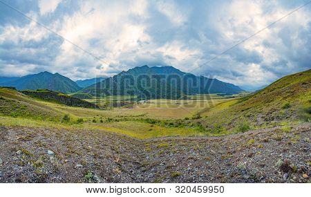 Tract Kalbak-tash And Chuya Highway In Altai Mountains, Russia