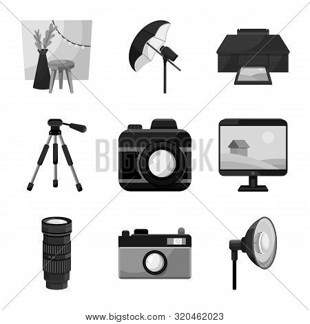 Isolated Object Of Professional And Accessories Sign. Collection Of Professional And Work Stock Vect