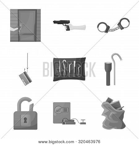 Isolated Object Of Pickpocket And Fraud Symbol. Set Of Pickpocket And Steal Stock Vector Illustratio