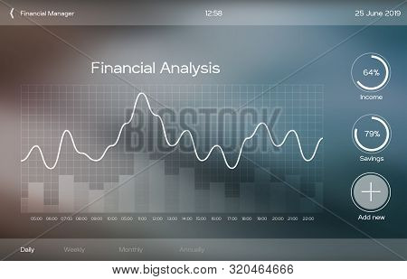 Graphic Of Financial Analysis Application For Computer Screen