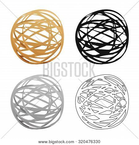 Vector Design Of Tumbleweed And Dry Logo. Set Of Tumbleweed And Wind Stock Vector Illustration.