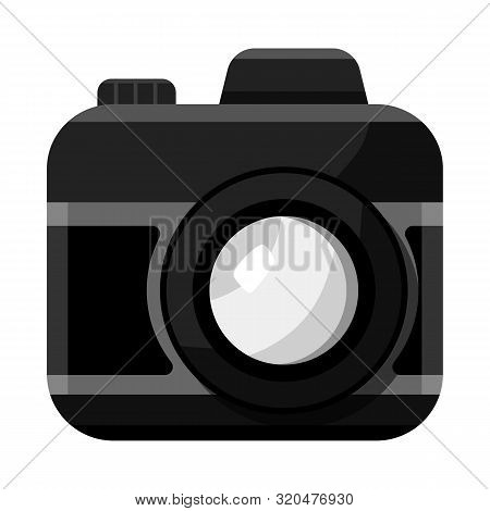 Vector Illustration Of Camera And Photo Sign. Set Of Camera And Dslr Stock Vector Illustration.