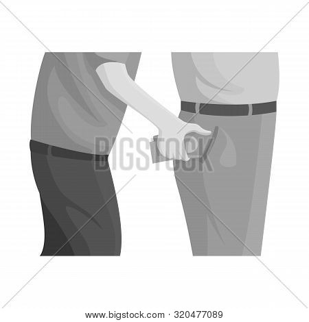 Vector Design Of Pickpocket And Theft Logo. Set Of Pickpocket And Money Stock Symbol For Web.