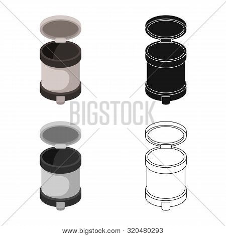 Isolated Object Of Bin And Dustbin Icon. Collection Of Bin And Bin Stock Vector Illustration.