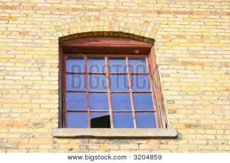 Window In Abandoned Paper Mill