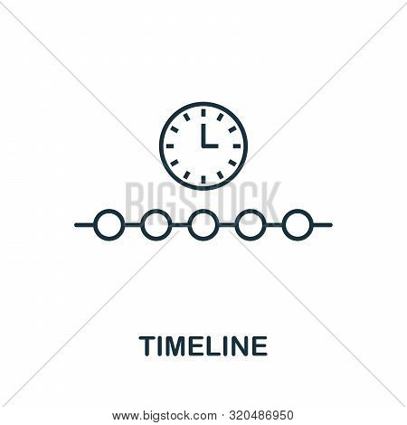 Timeline Outline Icon. Thin Line Concept Element From Fintech Technology Icons Collection. Creative