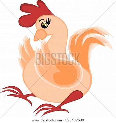 Childrens Illustration, Graphics - Surprised Rooster, Chicken, Poultry - Shock Stress