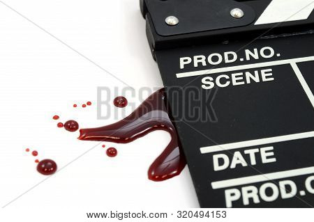 Bloody Directors Clapboard To Give Meaning To The Horror Film Genre.