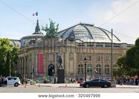 Paris, France - June 23, 2017: View Of The Grand Palais Building. Is A Large Historic Site, Exhibiti