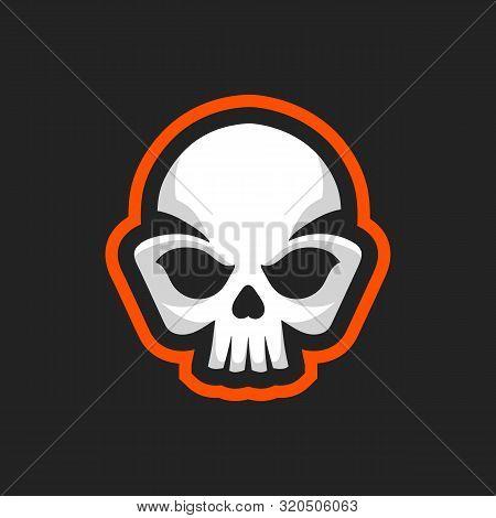 Skull Icon. Skull Logo Design Template. Skull  In Vintage Style. Emblem Pattern On Isolated Backgrou