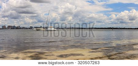 View of Boulevard of the Presidents from the Ken Thompson Boat Ramp in Sarasota, Florida. poster