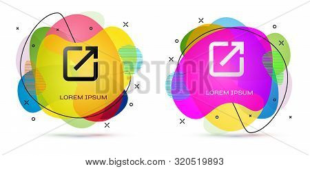 Color Open In New Window Icon Isolated On White Background. Open Another Tab Button Sign. Browser Fr