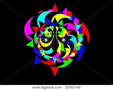 colourful artist or clown