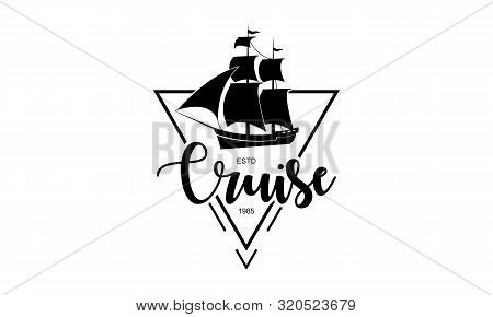 Sailing, Cruise, Ship, Sailing Boat Logo Vector