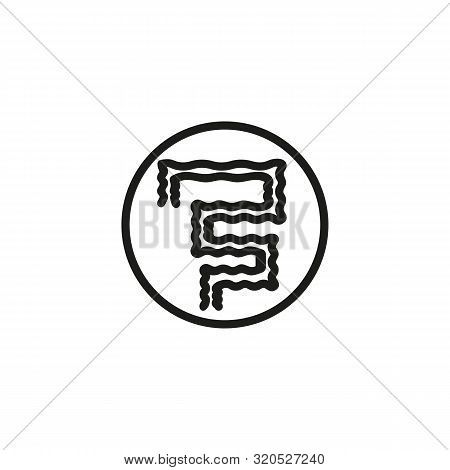 Human Bowel Line Icon. Medicine, Body, Nature. Human Organs Concept. Vector Illustration Can Be Used