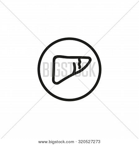 Human Liver Line Icon. Medicine, Body, Nature. Human Organs Concept. Vector Illustration Can Be Used