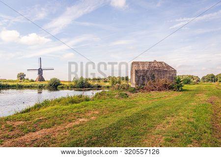 The Zandwijk Mill Near The Dutch Village Of Almkerk, Altena, North Brabant, Was Built In 1699. The M
