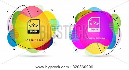 Color Php File Document. Download Php Button Icon Isolated On White Background. Php File Symbol. Abs