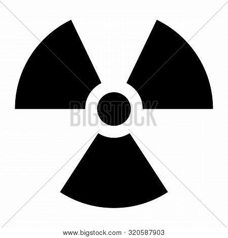 Black Radiation Sign Isolated On White Background